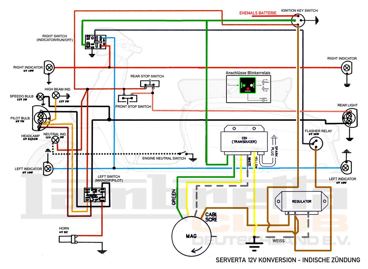 Niedlich Lambretta Schaltplan Fotos - Der Schaltplan - greigo.com